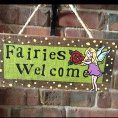 Garden sign for fairies