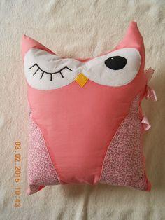 Almofada de coruja Rosa