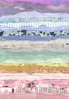 """Tickets"" by Grace Breyley. Torn paper landscape (Paisaje con papel rasgado). https://society6.com/product/tickets_print#s6-112852p4a1v45"
