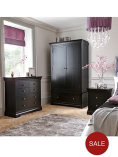 Own Brand CONSTANCE 2 DOOR WARDROBE WITH DRAWER Constance Solid Oak and Oak Veneer 2-door, 1-drawer Wardrobe – now in Painted Ivory and Black Options!In bedroom furniture, nothing says quality quite like oak - one of the nation's favourite woods, famed for its strength and natural beauty.This wardrobe from the Constance range is constructed from American oak and oak veneers that comes in a choice of finishes.Choose an oiled natural finish that draws maximum attention to its rich tones and...