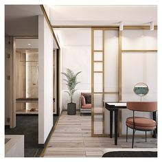 Mild and warm colors, fine lines, various textures (e.g. lava plaster and wood) are being combined with cooler materials (e.g. metal, marble etc.) into a fresh and extraordinary project proposal. Interior Architecture, Interior Design, Project Proposal, Imperial Palace, Dressing Tables, Pool Bar, Warm Colors, Plaster, Restaurant Bar