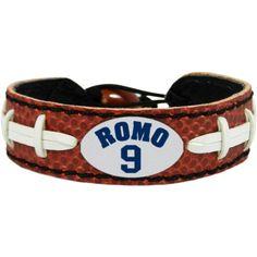 Dallas Cowboys Tony Romo Team Leather GameWear Bracelet; $9.99