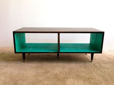 Media Table Coffee Table Mid Century Modern TV Stand Entertainment Cabinet