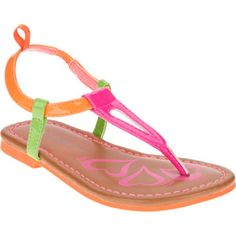 Healthtex Toddler Girl's Flash Thong Sandal