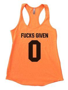 Fucks Given 0 Womens Workout Tank Top