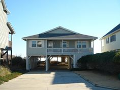 Holden Beach, NC - Aloha 625 a 5 Bedroom Oceanfront Rental House in Holden Beach, part of the Brunswick Beaches of North Carolina. Includes Hi-Speed Internet Beach Houses, Beach Cottages, Vacation Rentals, Vacation Ideas, House On Stilts, Outer Banks Vacation, Speed Internet, Home And Away, Summer Beach