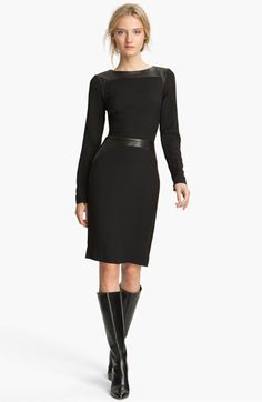 L'AGENCE Leather Inset Dress available at #Nordstrom