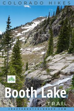 Booth Lake Trail for Hiking Enthusiats! Strenuous and exhilarating. Beautiful from beginning to end with the added bonus of popular 60' Booth Falls! Canada Travel, Usa Travel, Snowboard, Colorado Lakes, Waterfall Trail, Best Hikes, Ultimate Travel, Weekend Trips, Amazing Destinations