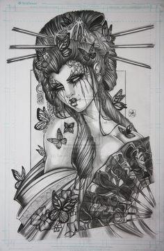 Geisha by Sarah-Giardina.deviantart.com on @deviantART