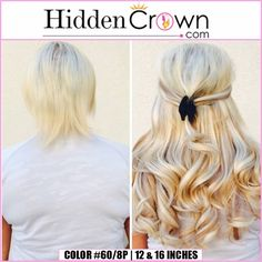 What a #blonde beauty!  Hidden Crown Hair Extensions #hair transformations like these make our hearts happy.  www.hiddencrown.com
