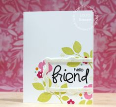 Card by PS DT Laura Bassen using PS Frame 4, Bosom Buddy, Botanicals 3