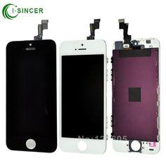 뜨거운 판매 100% 새로운 브랜드 lcd 디스플레이 apple iphone 5 s 5c 5 터치 스크린 디지타이저 어셈블리 iphone 6 6 plus 화이트 블랙