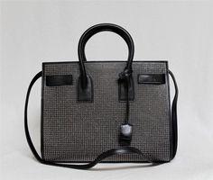New $3490 Saint Laurent YSL Sac de Jour Small Carryall Black Stud Leather Bag   eBay