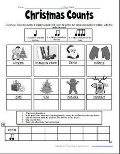 Christimas rhythm activity