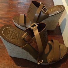 Tory burch wedges Pre owned but still in good condition- wedges by Tory burch Tory Burch Shoes Wedges