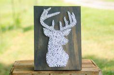 Custom Wood Deer Head Wildlife String Art Home by hwstringart