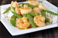 An easy, fast, and flavorful stir-fry made with shrimp and sugar snap peas. On the table in 20 minutes!