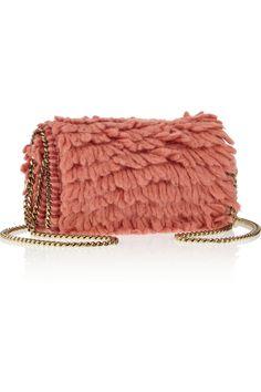 Stella Mccartney Falabella Looped Wool Shoulder Bag in Pink (Orange)   Lyst  Designer Clothes 8914141cfd