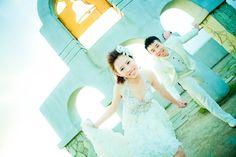 低胸婚紗照