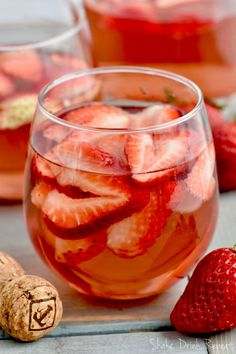 This Rosé Sangria recipe with vodka is the perfect easy drink for a party or get together. You'll make this Strawberry Rose Sangria again and again!