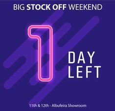 It's Tomorrow!! Big Stock Off Weekend 11th & 12th - Albufeira Showroom --------------------- É já amanhã!! Grande Fim-de-Semana Stock Off 11 e 12 Janeiro - Showroom de Albufeira  #stockoff #stockoffweekend #fimdesemana #ofertas #promoções #contagemdecrescente #saldos #sale #countdown #tomorrow #amanha #jaamanha