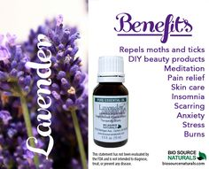 Lavender Essential Oil helps soothe inflammation, headaches, influenza, insomnia, migraine, nausea, nervous tension, infections,  sores, asthma, rheumatism, and arthritis. #aromatherapy *  *This statement has not been evaluated by the FDA and is not intended to diagnose, treat,
