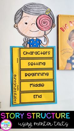 Teach your students story structure using diverse picture books as mentor texts. These units include a full week of lesson plans, sticky note questions for teachers and students, a rubric, and three foldable and graphic organizer crafts for each book. Writing Lesson Plans, Writing Lessons, Writing Skills, Guided Reading Lessons, Library Lessons, Reading Skills, English Activities, Kids Learning Activities, Writing Activities