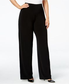 3d244c2fac5 Anne Klein Plus Size Wide-Leg Soft Pants
