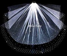 Royal Collection - Swarovski crystal 2 tier wedding veil - SALE