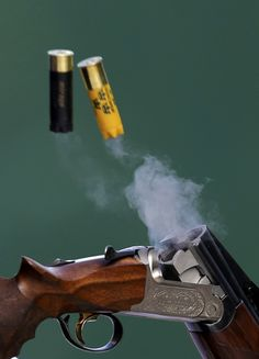 Spent cartridges are ejected from the shotgun of Sweden's Hakan Dahlby during the men's double trap shooting qualification round at the London 2012 #Olympics Games at the Royal Artillery Barracks. Reuters Photo