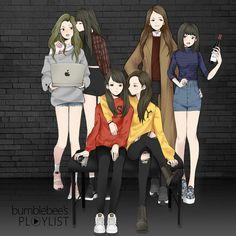 Anime Girlxgirl, Best Friend Drawings, Girly Drawings, Best Friend Pictures, Bff Pictures, Arte Obscura, Sisters Art, Cute Girl Wallpaper, Chibi Girl