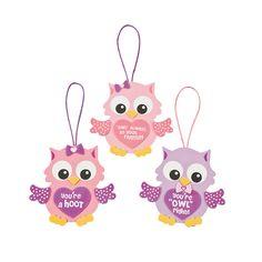Valentine Owl Ornament Craft Kit - OrientalTrading.com