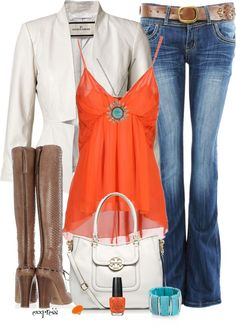 """Turquoise and Orange"" by exxpress on Polyvore"