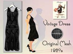 """Second Life Marketplace - *Boutique"""" - Dress - black Deco"""
