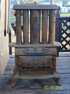 Rusty Iron Ranch Antique Stoves: Antique Cast Iron Parlor Stove No. 5 F & L Kahn & Bros. 1895