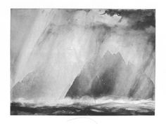 Study of Sun and Rain I, Skellig Rocks Landscape Prints, Abstract Landscape, Landscape Paintings, Landscapes, Norman Ackroyd, Painting Prints, Art Prints, Watercolor Painting, Inspirational Artwork