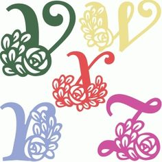 Silhouette Design Store - View Design # 78.119: Alfabeto primavera