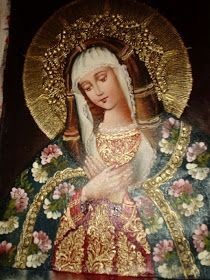 Oh rose most pure and good, full of grace, have pity on us and intercede for us. Religious Images, Religious Icons, Religious Art, Blessed Mother Mary, Blessed Virgin Mary, Mother Pictures, Art Pictures, Hail Holy Queen, Verge