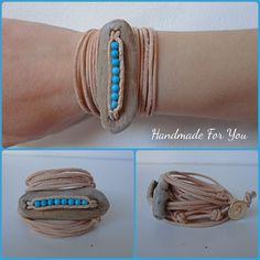 driftwood bracelet, howlitis beads www.facebook.com/gmhandmade