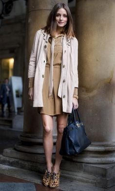Olivia Palermo Looks Lovely In Neutrals At London Fashion Week, 2011