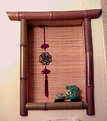 Bamboo framed tokonoma alcove