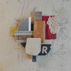 Rounded composition, Albert Anglès #collage #handmadecollage #contemporaryart #collageartwork #assemblage #kunst #labertcollage