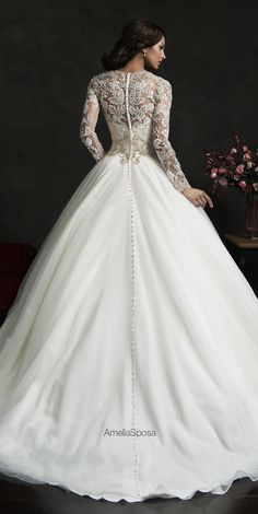 Winter Wedding Dresses to help cold-weather brides stay warm ~ Amelia Sposa 2015 Wedding Dress