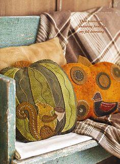 Seasons of Wool Applique Folk Art by Rebekah L. Smith - ConnectingThreads.com