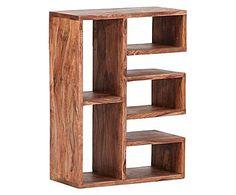 Librería–estantería en madera de sheesham – letra E