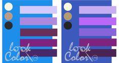 сочетание сине голубого и сине фиолетового с фиолетовым