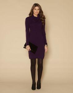 Amelia Mini Cable Cowl Neck Dress