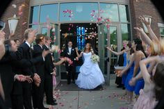 Use flower petals for exit from church!