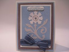 With Deepest Sympathy card made using Lovely Floral Cricut cartridge.