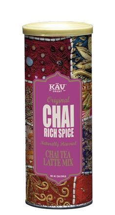 A Spicy Chai Latte mix based on an old Indian recipe made from strong black tea and aromatic spices from the East, with sweet honey. Rich Spice makes a creamy and richly flavored Chai latte in just a few minutes.